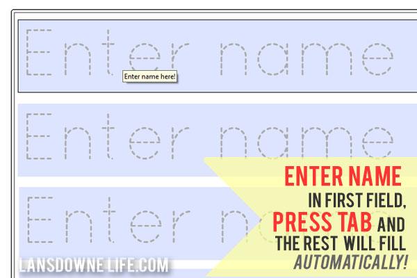 Preschool handwriting worksheet FREE printable! - Lansdowne Life