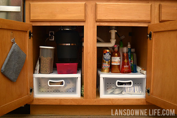 Organizing The Cabinet Under The Kitchen Sink Lansdowne Life