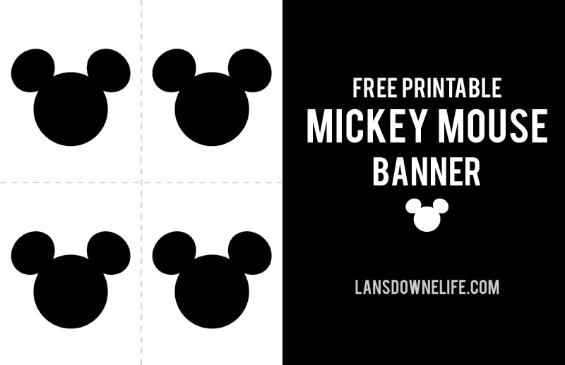 Printable Mickey Mouse Party banner - free printable mickey mouse