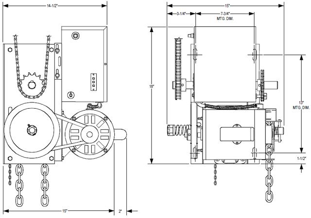 overhead door model rdb electrical diagram