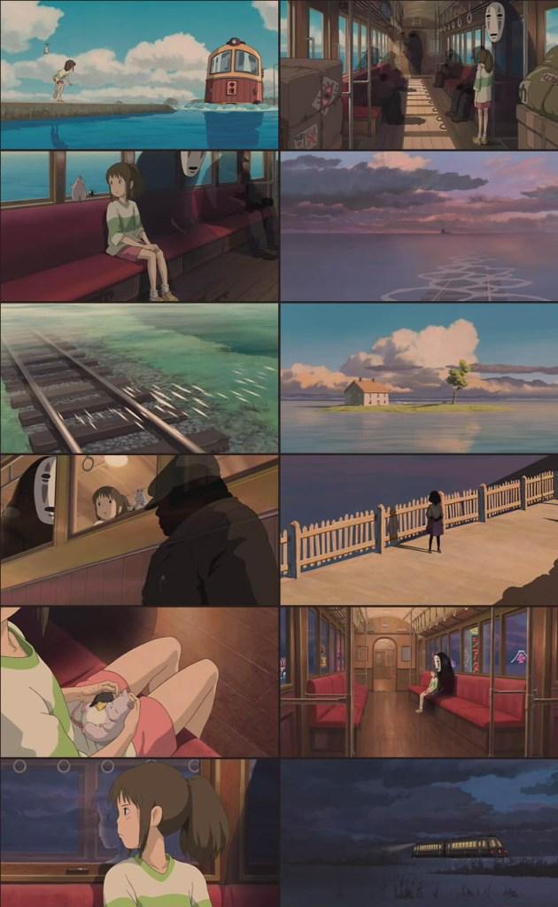 Secuencia tren 'El viaje de Chihiro'