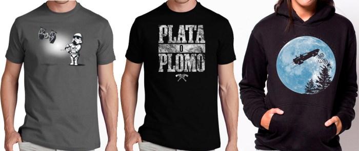 Camisetas de La tostadora y sudadera de Pampling.