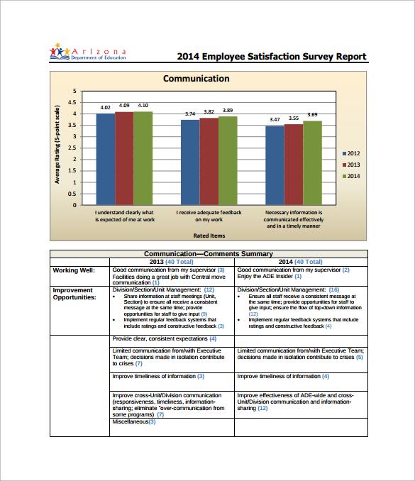 satisfaction survey report - Pinarkubkireklamowe