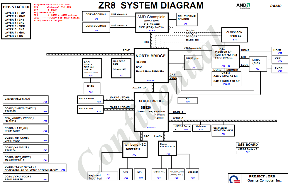 acer daa75l motherboard diagram