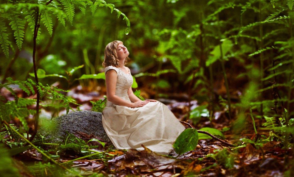 Forest fantasy bride