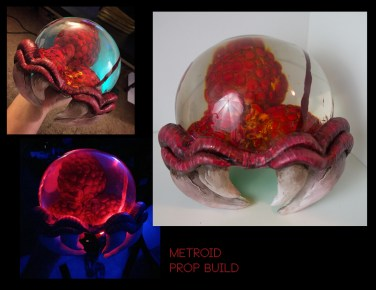 Metroid - Sculpting, Molding and Casting. + LED wiring
