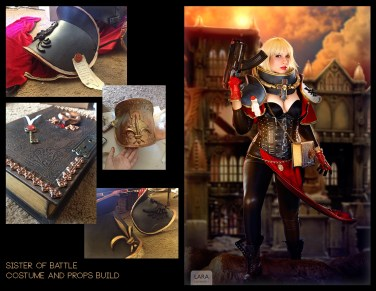Sister of Battle - Sewing, Foam Crafting, Casting and molding.