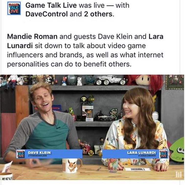Discussing video game influencing with David Kline and Mandie Roman! 2017