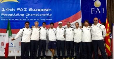Macedonia. Parapendio europeo, trionfo francese e due medaglie per gli azzurri
