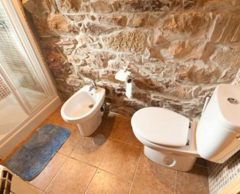 baño completo apartamento rural