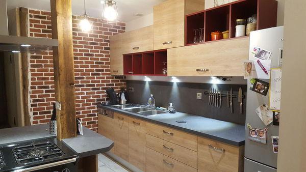 Cuisine à Jarrie (38)  Création d\u0027une cuisine moderne avec ilot - Cuisine Moderne Avec Ilot