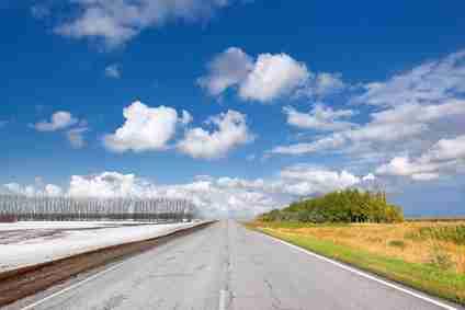 changing season road