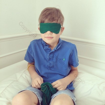 Eddie's finished eye mask
