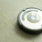 Vacuum cleaning robot in action