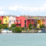 coloured houses in Caorle