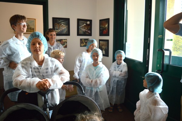 Before our visit could commence we needed to get gowned up. We were used to this by now!