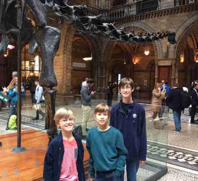 Harry Eddie Sid at Natural History Museum