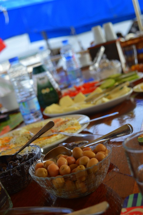 Breakfast on the Muhtesem-A gulet certainly was something to look forward to...