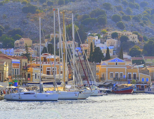 symi boats at harbour 2