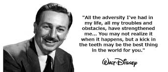 Walt Disney Quote Adversity