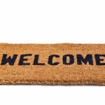 Welcome mat cut out
