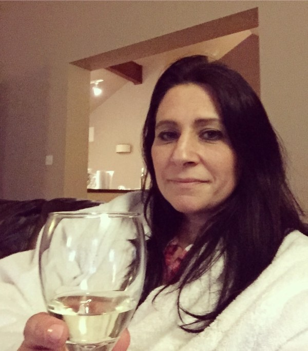 tania and wine