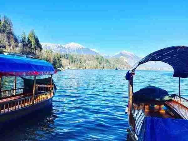 slovenia lake bled pletna boat