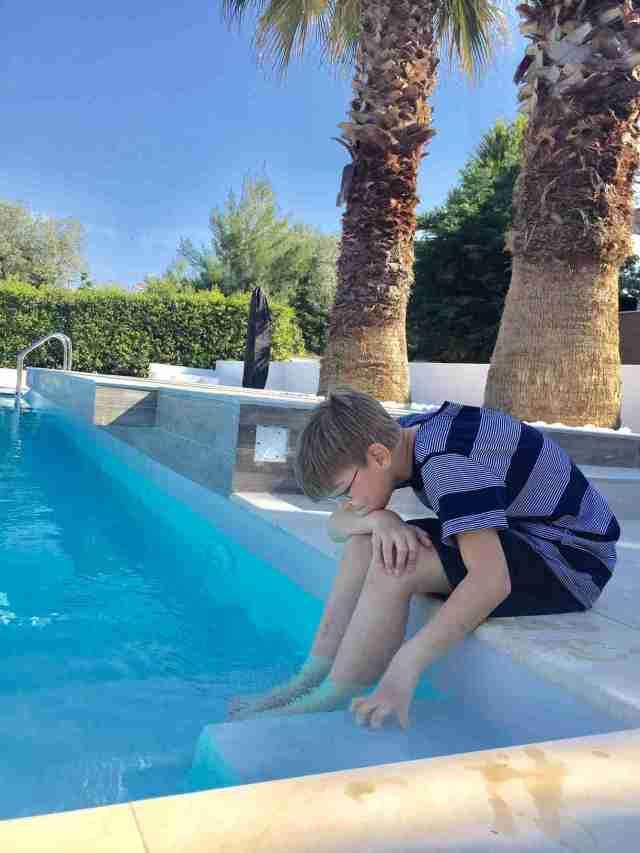 villa anna maria eddie waiting to swim