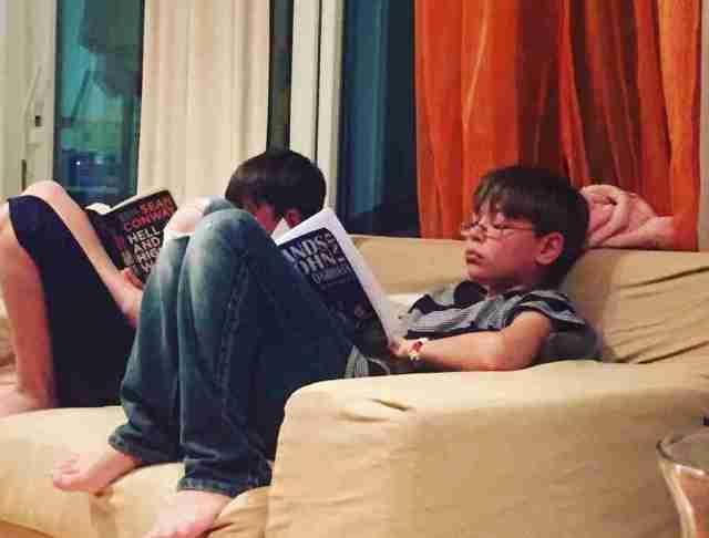 villa anna maria sid and eddie reading sean conway books