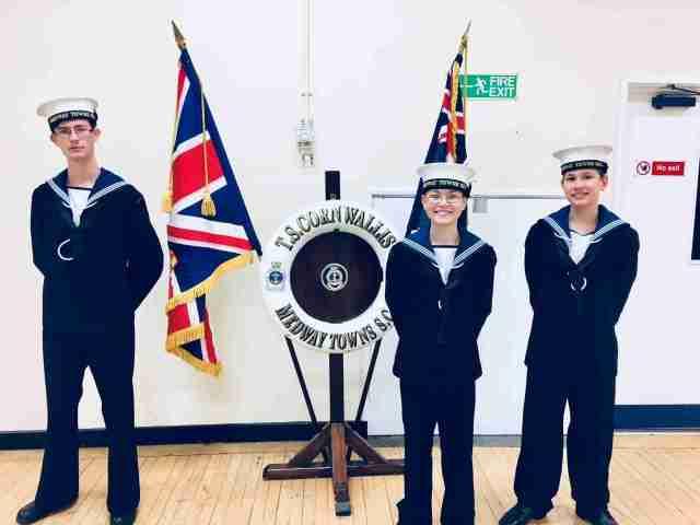 Harry Eddie Sid Sea Cadets Promotion