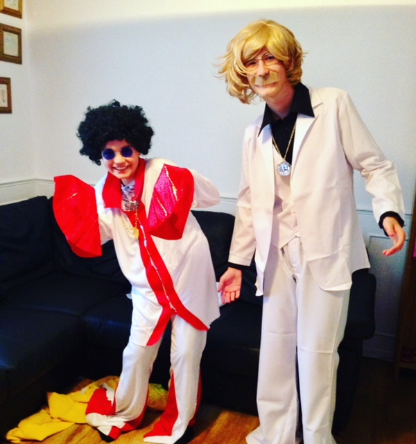 Harry and Eddie Eurovision Fancy Dress May 2018