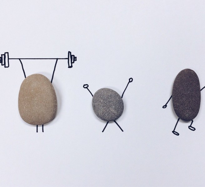 rocks working out