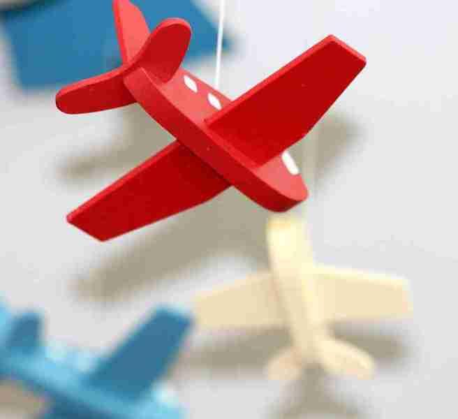 toy aeroplane mobile