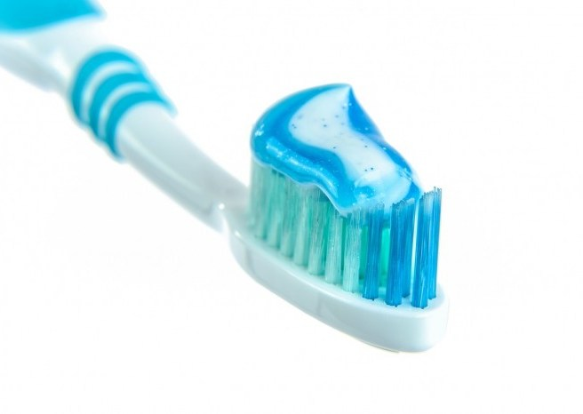 toothbrush and paste