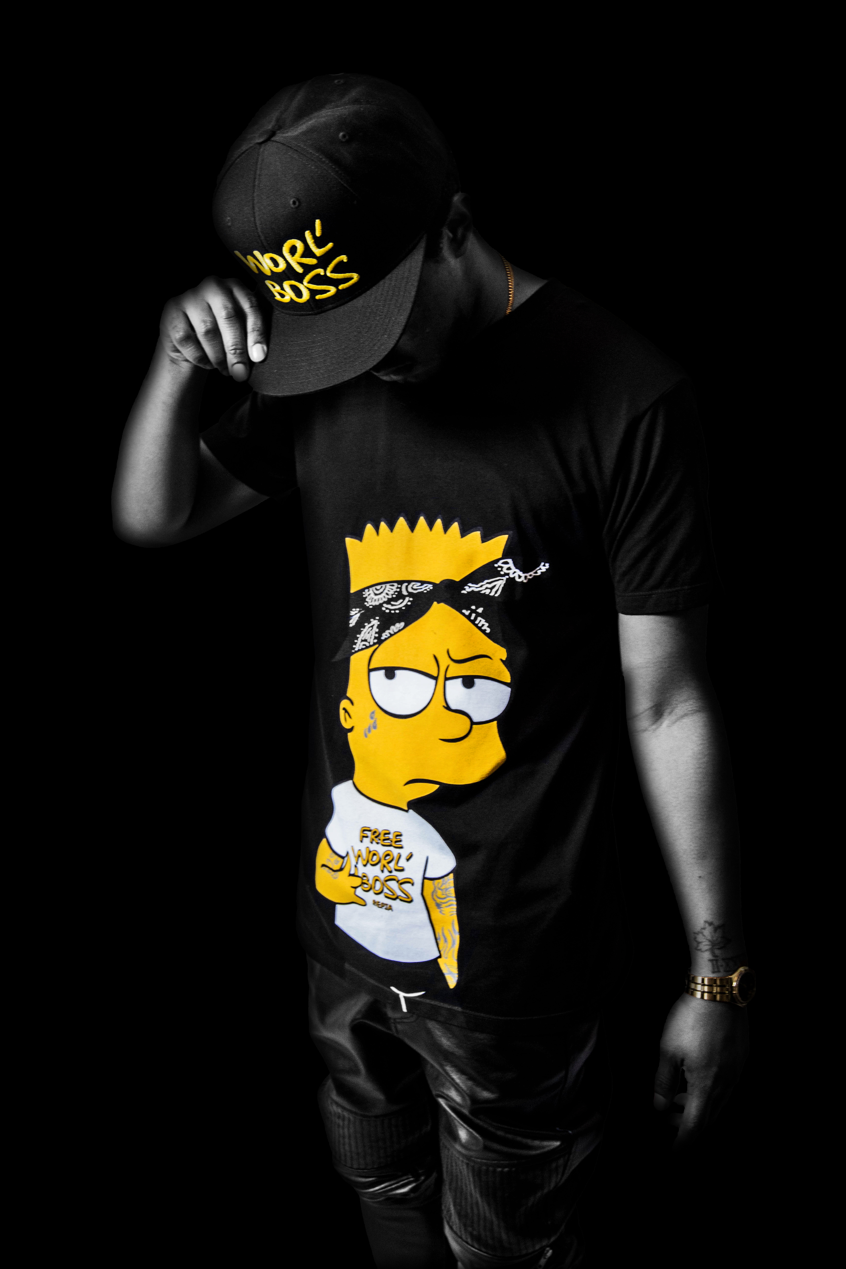 The Simpsons Iphone Wallpaper Fashion Fridays Bart Simpson Vybz Kartel Bartel Largeup