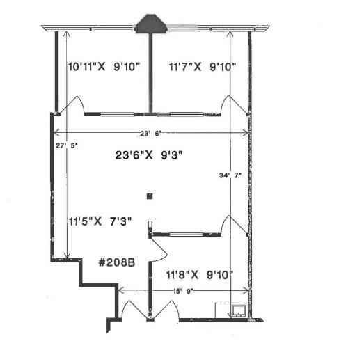 20641 Logan Avenue #208 (dimensions)