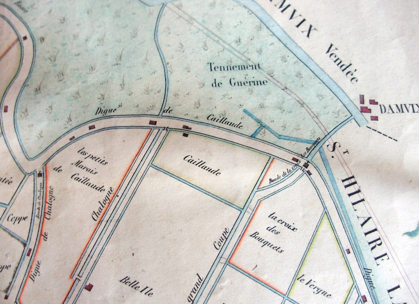Caillaude, carte de Cassini (détail)