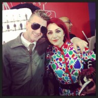 With Philip Arickx, creative director of A.F. Vandervorst A/F 2014 Paris show