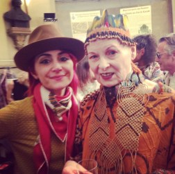 The one and only Vivien Westwood backstage A/F 2014 show
