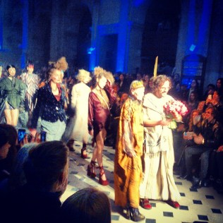 Atmosphere at Vivien Westwood show - the masters heading the show