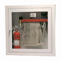 Cabinet for Rack with 100 Ft Fire Hose and Extinguisher ...