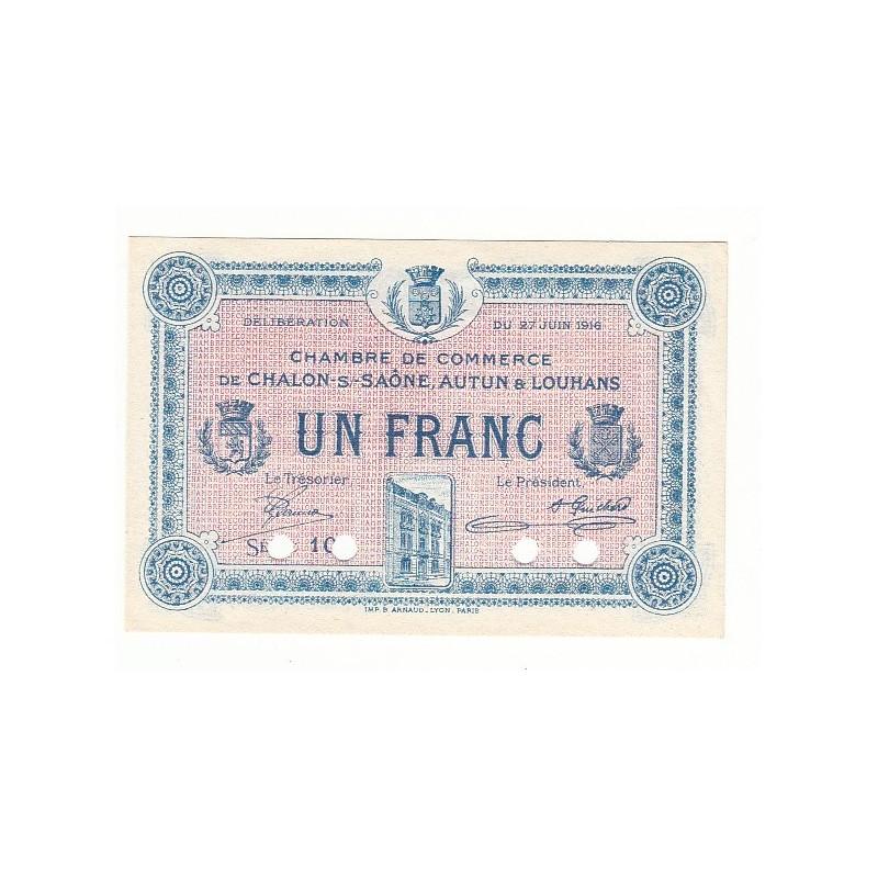 Acheter billet 1 Franc Chambre de Commerce Chalon s/Saône SPECIMEN - Chambre De Commerce Chalon Sur Saone