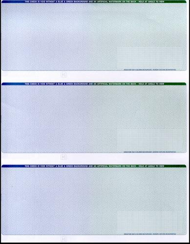 3 Checks per Page, Blank Check Paper CP613 - 2 Perforations (1 Ream)
