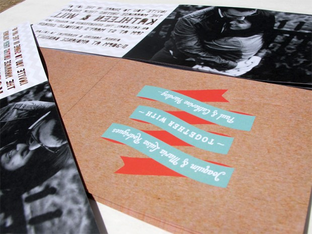 Pic number five of laser cut font/letter cutout wedding invitation booklet
