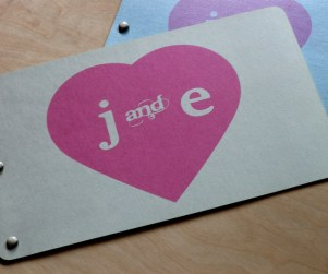 cover of our contemporary laser cut wedding invitations