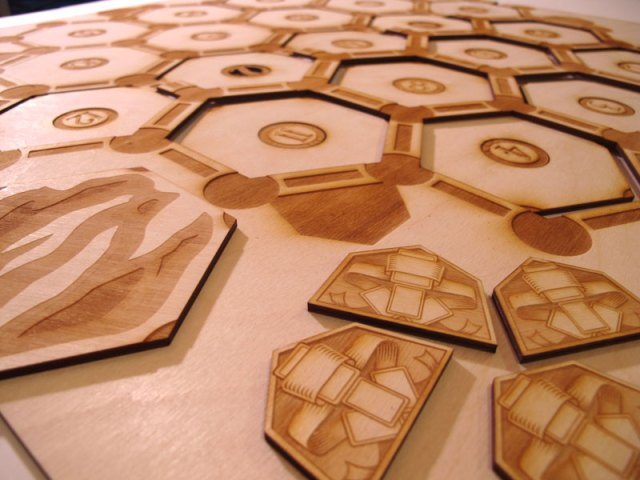Settler of Catan custom laser cut wood game board 2