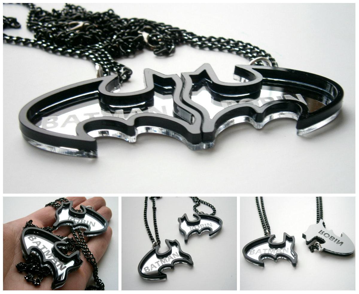 Best Friends Batman Necklaces Inspiring Jewelry Sale