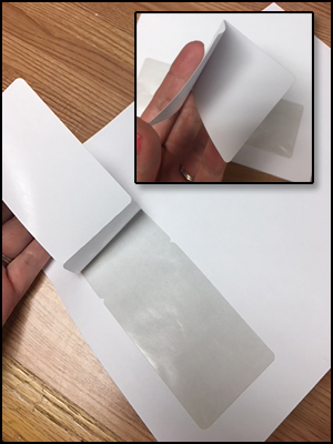 LMC8221 DOCUCOPY® Blank 1 up Laminated Fold Over Membership Cards on