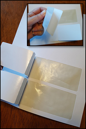 LMC8221 DOCUCOPY® Blank 2 up Laminated Fold Over Membership Cards on