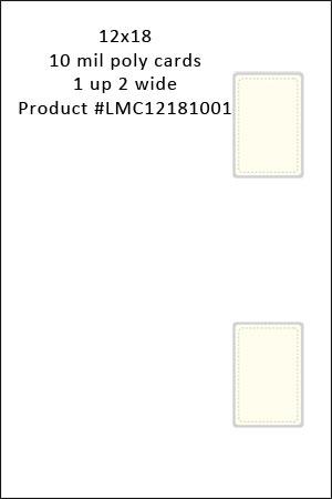 Click Saver 1 up 2 wide 12 x 18 Blank Duplex Printable Membership